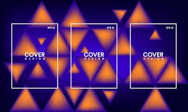 Modèle de couverture de livre abstrait