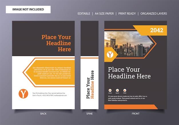 Modèle de couverture de livre arrow orange