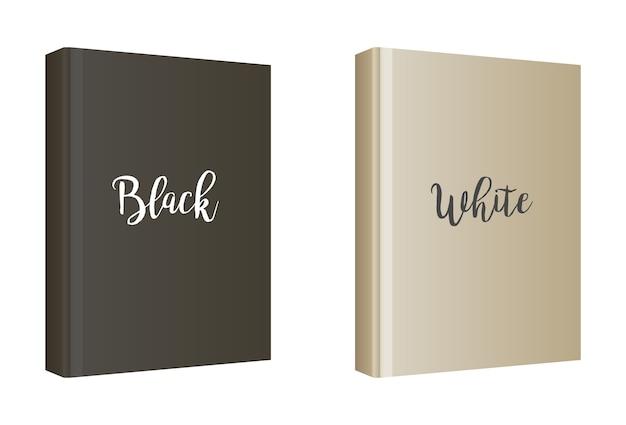 Modèle de couverture de livre blanc vertical