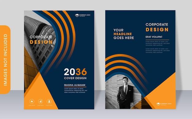 Modèle de couverture de livre d'entreprise moderne