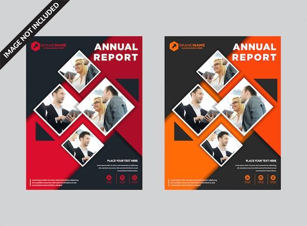 Modèle de couverture de livre d'entreprise.