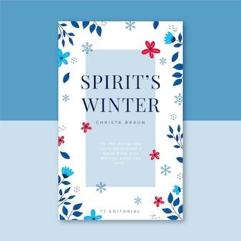 Modèle de couverture de livre d'hiver illustré