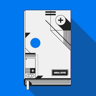 Modèle De Couverture De Livre / Impression Avec Des Formes Géométriques Abstraites. Utile Pour Les Bannières, Les Couvertures Et Les Affiches. Vecteur Premium