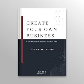 Modèle de couverture de livre minimaliste