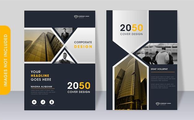 Modèle de couverture de livre moderne d'entreprise polyvalente