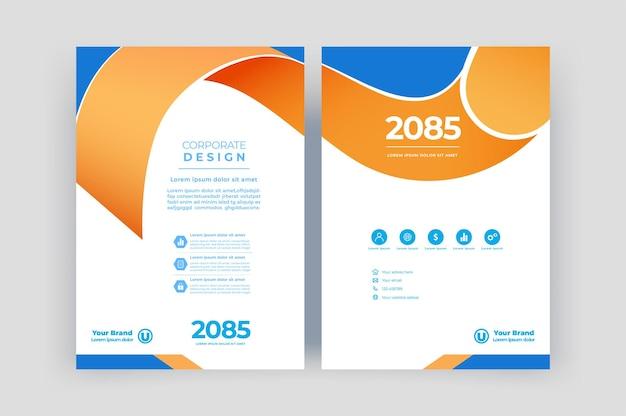 Modèle de couverture de livre pour la brochure rapport annuel magazine présentation d'entreprise flyer mise en page