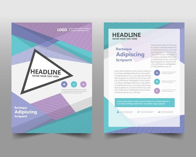 Modèle de couverture de livre de rapport annuel créatif coloré