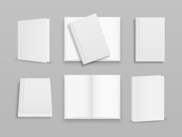 Modèle de couverture de livre vertical vierge avec pages à l'avant