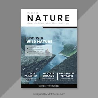 Modèle de couverture de magazine nature