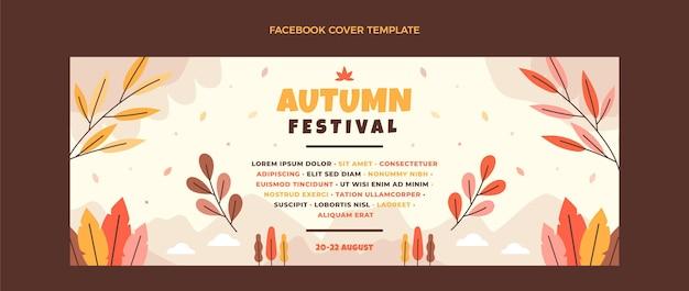 Modèle de couverture de médias sociaux automne plat