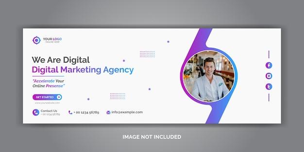 Modèle de couverture de médias sociaux d'entreprise de marketing numérique