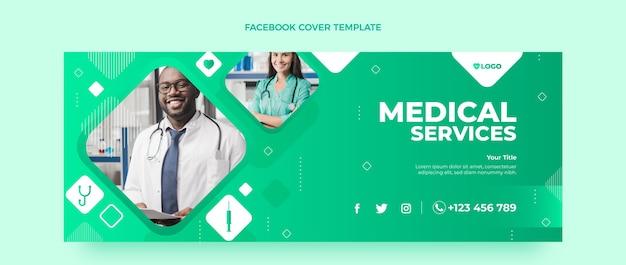Modèle de couverture de médias sociaux médicaux dégradés
