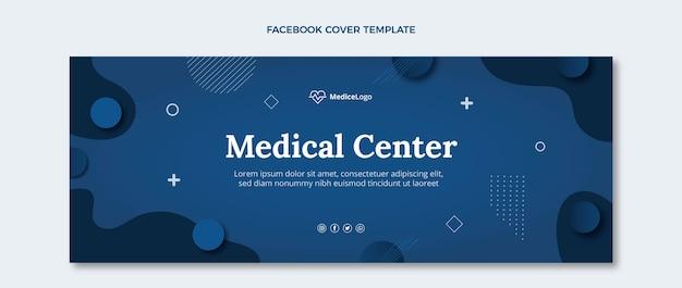 Modèle de couverture de médias sociaux médicaux plats