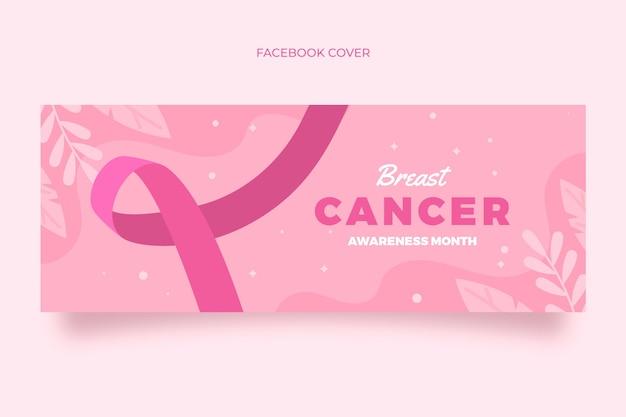 Modèle de couverture de médias sociaux pour le mois de sensibilisation au cancer du sein plat