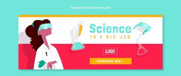 Modèle de couverture de médias sociaux scientifiques dessinés à la main