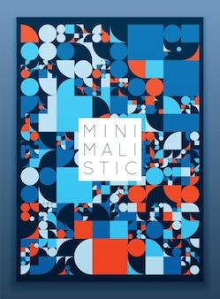 Modèle de couverture minimaliste abstrait futuriste