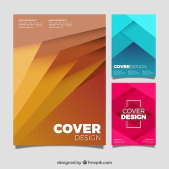 Modèle de couverture moderne avec un design géométrique