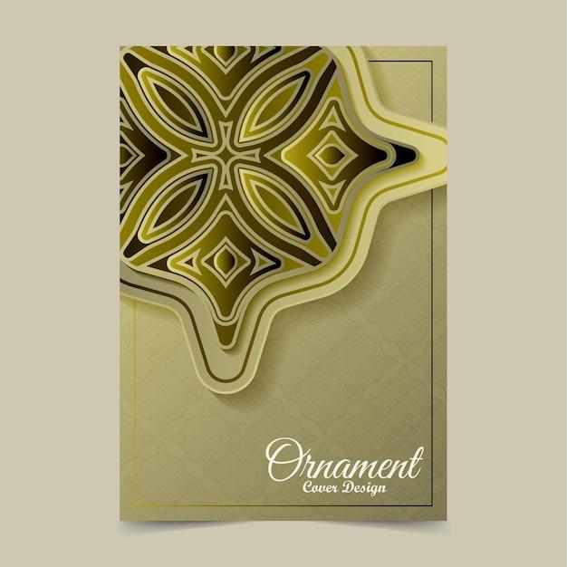 Modèle de couverture de motif d'ornement d'or