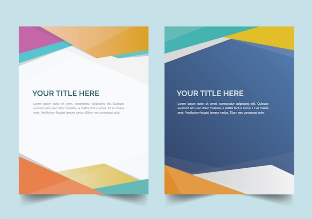 Modèle de couverture de page avec un design polygonal coloré