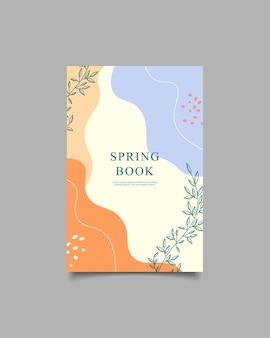 Modèle couverture printemps livre fond naturel