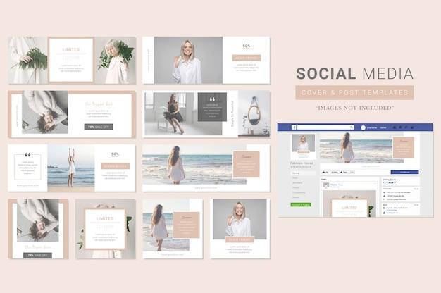 Modèle de couverture et de publication dans les médias sociaux