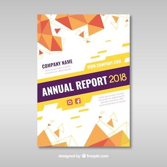 Modèle de couverture de rapport annuel abstrait