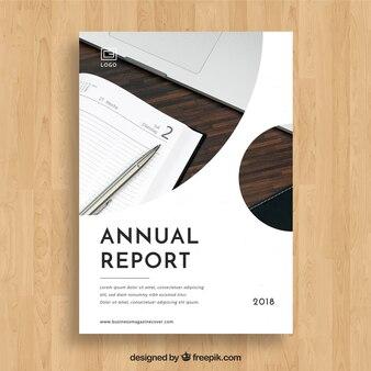 Modèle de couverture de rapport annuel