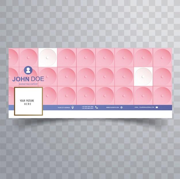 Modèle de couverture rose 3d abstrait facebook