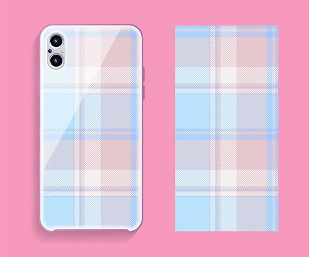 Modèle de couverture de smartphone ecosse tartan