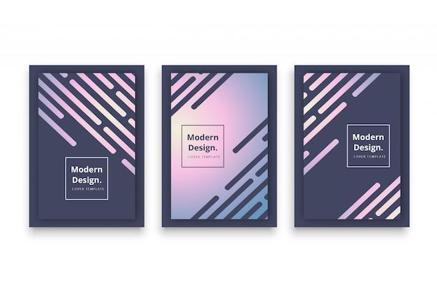 Modèle de couverture sombre de forme moderne