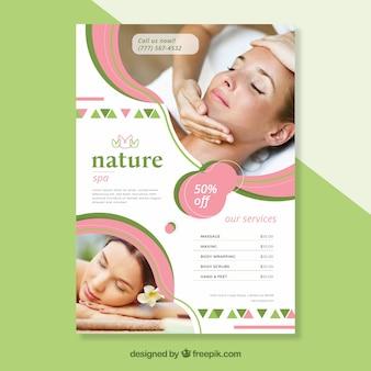 Modèle de couverture de spa avec image