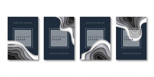 Modèle de couverture de style de coupe de papier