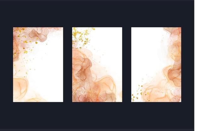 Modèle de couvertures d'encre à l'alcool aquarelle