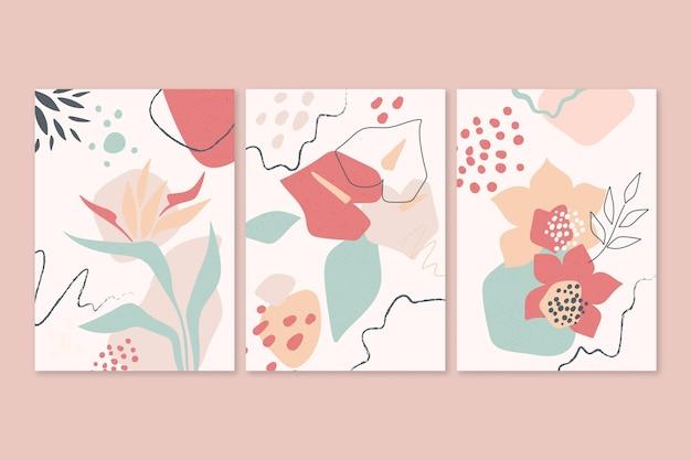 Modèle de couvertures de formes abstraites dessinées à la main