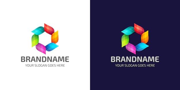 Modèle créatif moderne de logo abstrait coloré