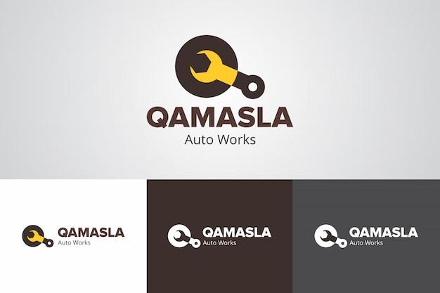 Modèle de création de logo auto qamasla créatif