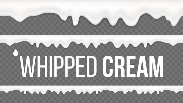 Modèle de crème fouettée