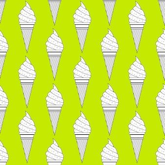Modèle de crème glacée, fond d'été coloré. illustration de style élégant et luxueux