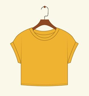 Modèle de croquis plat de mode haut court