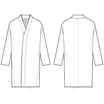 Modèle de croquis plat mode manteau
