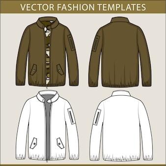 Modèle de croquis plat de mode veste