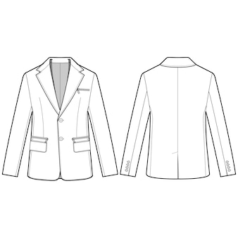 Modèle de croquis de plat mode veste