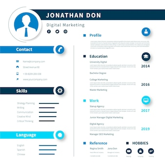 Modèle de curriculum vitae en ligne créatif
