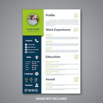 Modèle de curriculum vitae professionnel