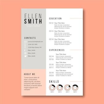 Modèle de curriculum vitae style minimaliste