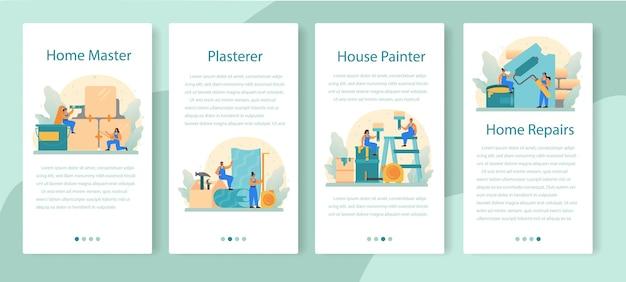 Modèle de curseur d'application home master