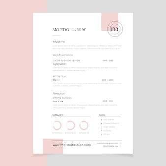 Modèle de cv minimaliste