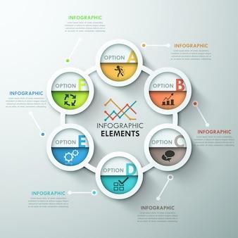 Modèle de cycle d'infographie moderne