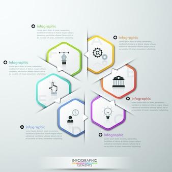 Modèle de cycle d'infographie