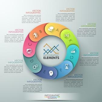 Modèle de cycle de vecteur pour infographie